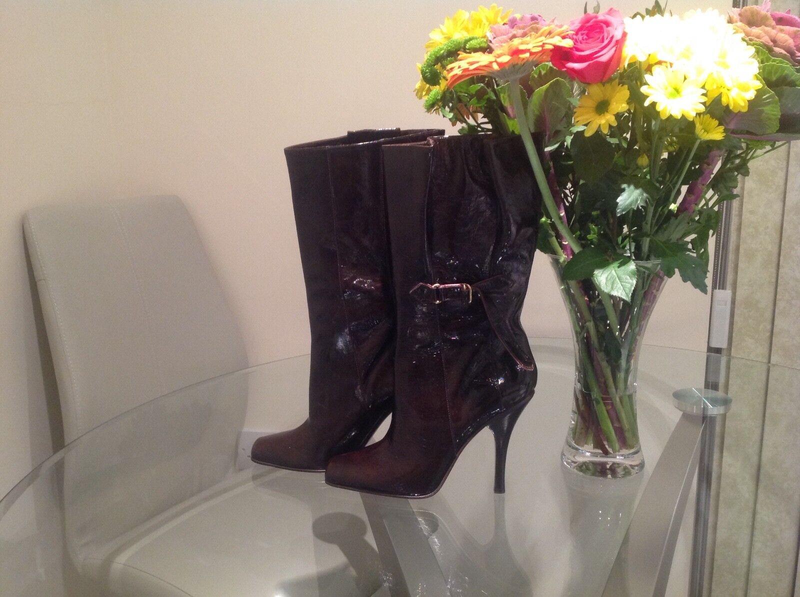 Jimmy Choo Nuevo Nuevo Nuevo auténtico Cuero Patente botas talla 38 EU 4.5 UK 4f2d23