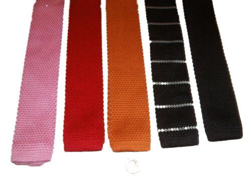 Tricoté Cravates Différentes Couleurs RU Vendeur Rapide vente idée cadeau