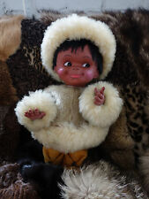 Eskimopuppe muñeca inuit esquimal jóvenes Alaska 60s True vintage 70er Groenlandia