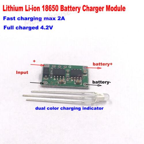 5V 2A 3.7v Li-ion Lithium Lipo 18650 Battery 4.2V Charger Module Charging Board