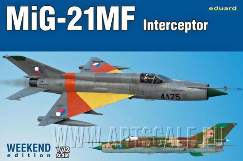 Mig-21MF Interceptor plastik kit 1//72 Eduard 7453 Novelty