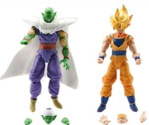 2 PERSONAGGI DRAGON BALL -16Cm.- Super Z Sayan Goku Figure Modellino Statuina