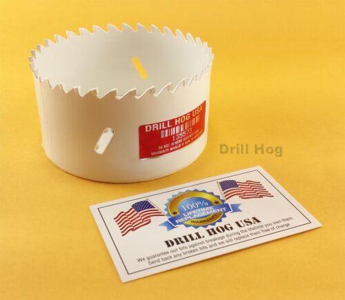 """5/"""" Carbide Hole Saw Carbide Tipped 5/"""" Holesaw Lifetime Warranty Drill Hog USA"""