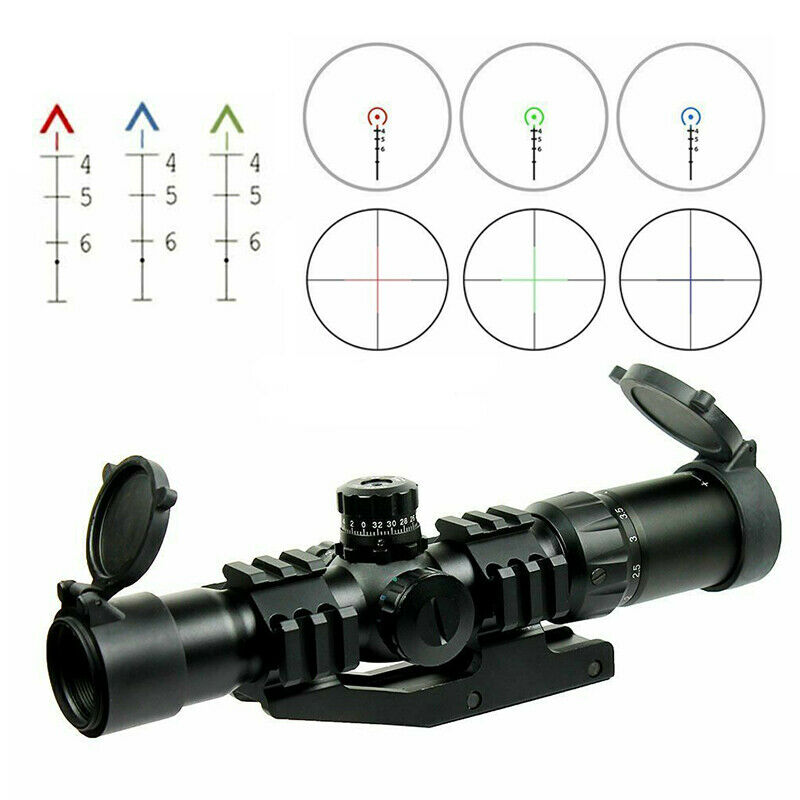 1.5-4X30 Tactical Rifle Scope with RGB illuminated Sight Scope -PEPR Mount