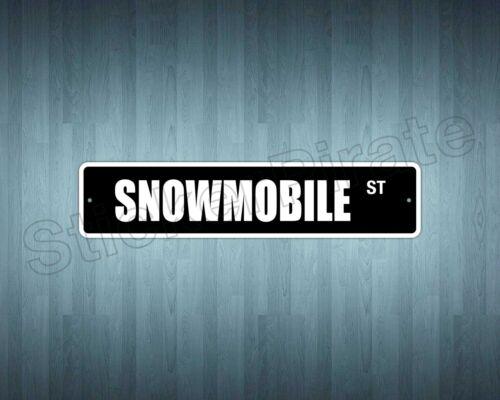 """*Aluminum* Snowmobile 4/"""" x 18/"""" Metal Novelty Street Sign  SS 3323"""