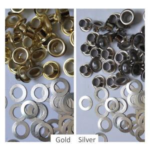 Occhielli-CON-RONDELLA-Leather-Craft-Riparazione-gormmet-6-5mm-per-cinture-schede-Borsa-Tela