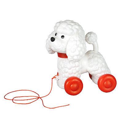 CANICHE - CHIEN jouet style vintage rétro À TIRER TRAÎNER pour bébé enfant