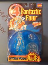Toy Biz The Fantastic Four FF, Invisible Woman Clear Marvel Legend!!! Rare HTF