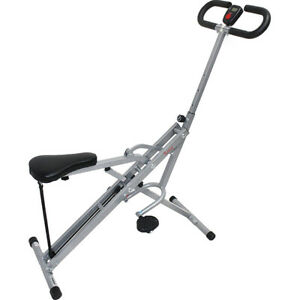 Sunny Health and Fitness Upright Squat Assist Row-N-Ride Trainer for Squat and G