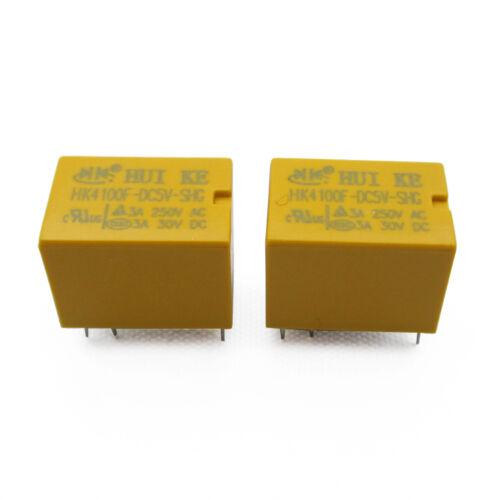 2PCS 5V Relay HK4100F-DC5V-SHG 3A 250VAC 30VDC HUIKE NEW