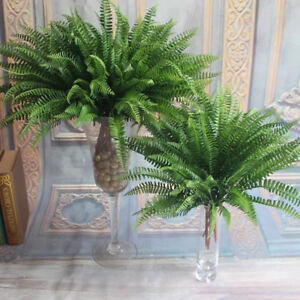Image Is Loading Large Artificial Boston Fern Fake Plant Bush 14