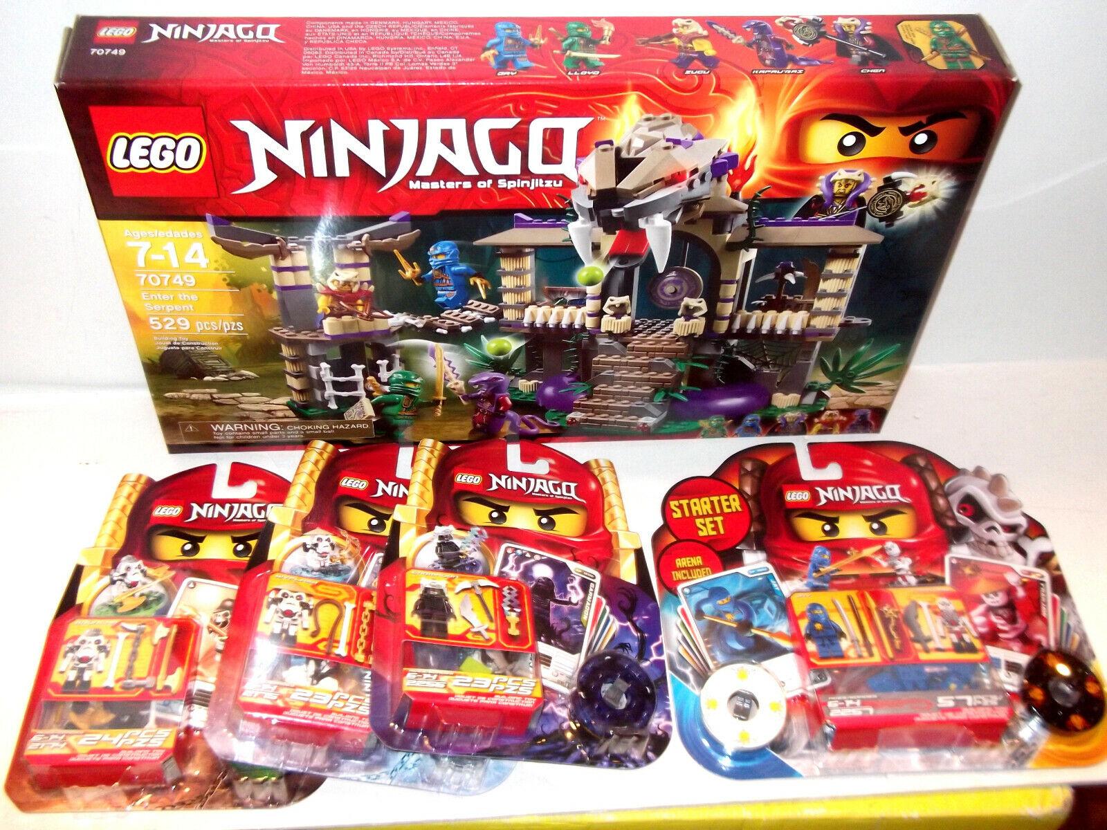 LOT LEGO 2257 70749 2175 2174 2256 Enter Serpent Ninjago Stkonster Set Brand Ny