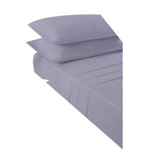 Grigio-4FT-piccole-doppio-montato-Lenzuolo-Easy-Care-in-policotone-Small-fogli-doppi