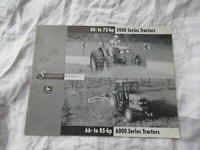 John Deere Governmental Bid Spec Booklet Dealer/'s Brochure DKA108 99-05  LCOH