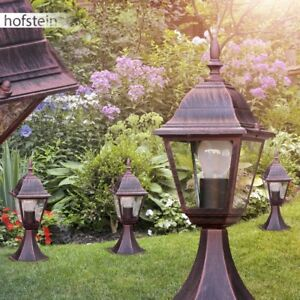 Sockel Garten Außen Wege Leuchte Lampe Licht Beleuchtung Hof rostfarbend NEU