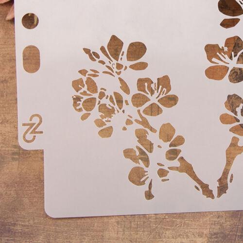 Reusable flowers Stencil Airbrush Art DIY Home Decor Scrapbooking Album FaNWUS