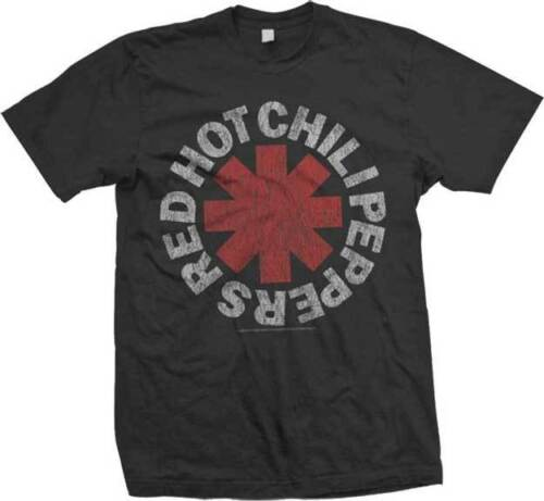 Vintage Logo RED HOT CHILI PEPPERS Official T SHIRT S-M-L-XL-2XL Brand New