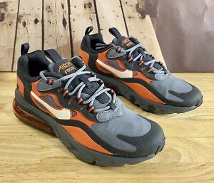 Nike-Air-Max-270-React-GS-Running-Shoe-Grey-Orange-BQ0103-006-Sz-6-5Y-Women-s-7