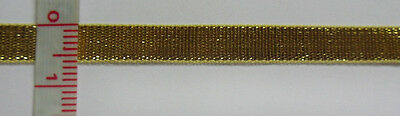 """1/4"""" Metallic Gold Double Sided Ribbon/ Trim/ Tape-Color Choice-5/10 Yards(T134)"""