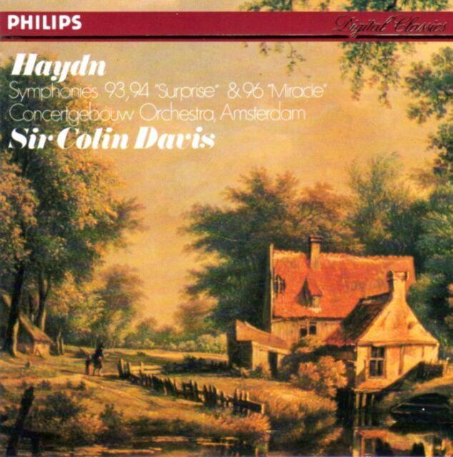 HAYDN - Symphonies 93, 94 & 96 / SIR COLIN DAVIS