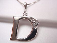 "Celtic Letter ""D"" 925 Sterling Silver Pendant Corona Sun Jewelry d"