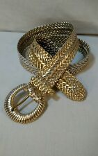 "L  45"" braided Ladies golden metallic Belt Cleopatra toga princess queen costume"