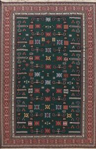 Geometric Sumak Kilim Tribal Hand-woven Area Rug Wool Living Room Oriental 9x12