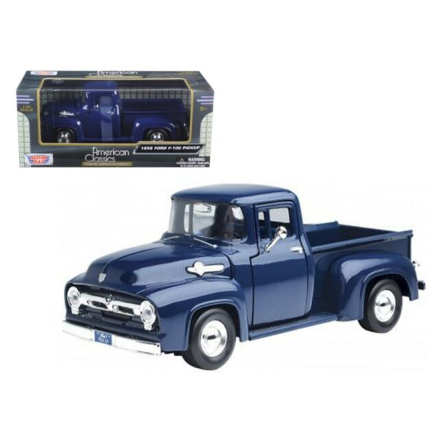 1956 Ford F-100 Pickup Truck Die-cast 1:24 by Motormax 8 inch Red