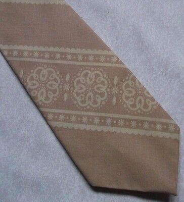 Efficiente Vintage Tie Cravatta Da Uomo Beige Retro Psichedelico-mostra Il Titolo Originale Rimozione Dell'Ostruzione