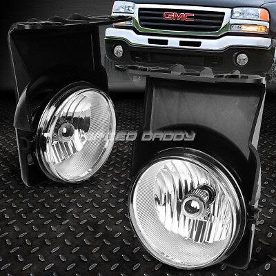 FOR 03-06 GMC SIERRA 1500/2500/3500 CHROME LENS OE BUMPER DRIVING FOG LIGHT LAMP