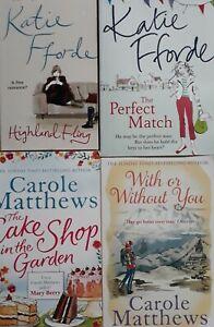 Job-Lot-Bundle-Of-4-Katie-Fforde-Carole-Matthews-Paperback-Books-Highland-Fling