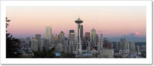 E Seattle Panorama Art Print Home Decor Wall Art Poster