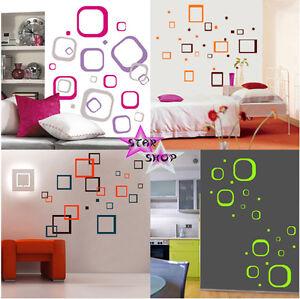 Vinilo decorativo circulos cuadrados adhesivo decoracion for Pegatinas vinilo decoracion