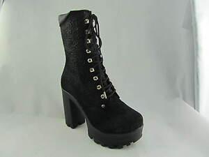dames noires noir Bottines cuir en acier pour fond RxwwZPqv5