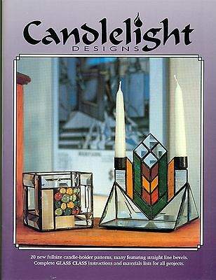 Candle Light Designs Stained Glass Pattern Book, 20 Designs, Bevel, Nuggets, OOP
