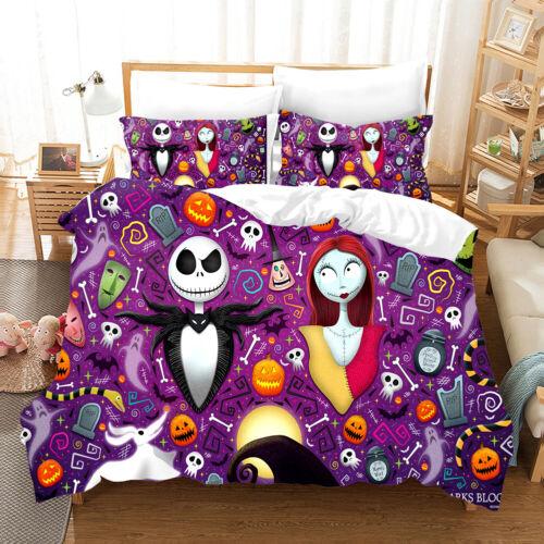 3D The Nightmare Before Christmas Jack Duvet//Quilt//Doona Cover Set Pillowcase