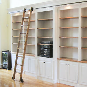 Quiet Glide Standard Rolling Library Ladder Kit With A 9