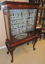 Item 5 Queen Anne Style Curio/China Display Cabinet Mahogany Glass Sliding  Front Door  Queen Anne Style Curio/China Display Cabinet Mahogany Glass  Sliding ...
