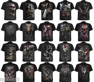 Spiral direct de nouveaux designs crâne DRAGON Halloween t shirt top reaper ROCK METAL