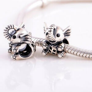 Baby-Elephant-Silver-Charm-Fit-For-European-Charm-Bracelets