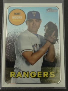 Details About 2018 Topps Heritage Thc 555 Matt Moore Rangers Chrome Baseball Card 416999