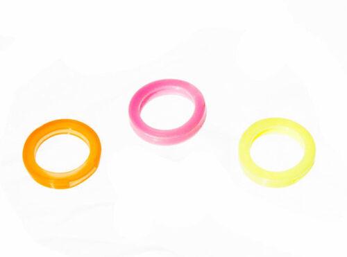 NEW Pack 10 X Plastic Key Identifiers Assorted  Flourescent Colours