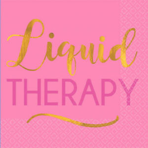 ADULT BIRTHDAY Liquid Therapy SMALL NAPKINS (16) ~ Party Supplies Beverage Cake