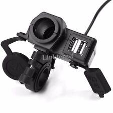 Waterproof Dual USB Port Phone GPS Socket Power Charger For Honda GROM MSX 125