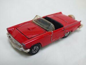 Vintage-1980-Corgi-Ford-Thunderbird-Red-Convertible-Toy-Car-Opening-Bonnet-Dan