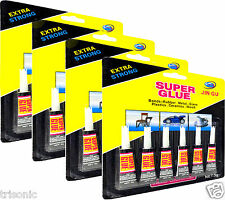 24 PACK TUBES SUPER GLUE MULTI-PURPOSE EXTRA STRONG CRAFT SUPPLIES CYANOACRYLATE