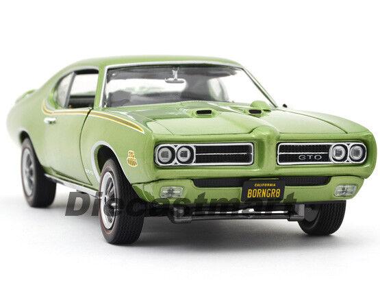 ERTL AMERICAN MUSCLE ELITE 1 18 1969 PONTIAC GTO JUDGE NEW DIECAST METALIC GREEN