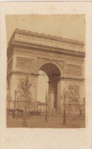 Parigi Arco Di Triomphe Da Stella Foto CDV Vintage Albumina Ca 1860