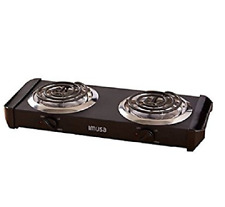 Electric Double Burner Hot Plate Heating Cooking Stove Portable Dorm Camping