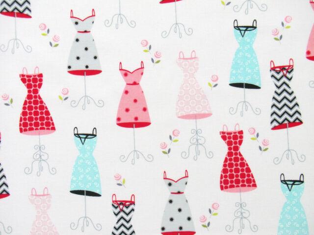 Pastell Patchworkstoff Mode Fashion Lady der Fifties Style Sommer Kleider weiß
